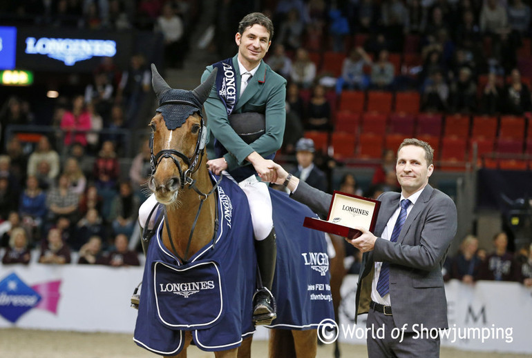 Steve Guerdat won the Western European League. Photo (c) Jenny Abrahamsson.