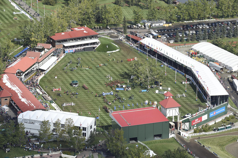 Aerial View of Spruce Meadows.